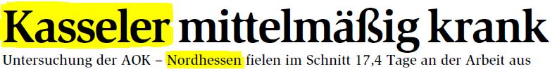 Überschrift Kassel Nordhessen