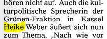 Heike W. - Kulturpolitische Sprecherin der Grünen?