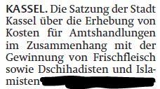 Dringend notwendige Satzung der Stadt Kassel